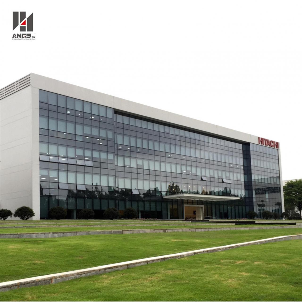 Cheap Moden Architecture Exterior Facade Reflective Toughened Glass Curtain Wall for sale