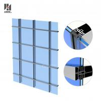 Cheap Aluminum Curtain Wall System For Exterior High Buildings for sale