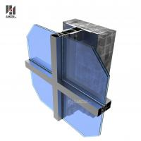 Cheap Aluminum Frame Glass Curtain Wall For Commercial Building for sale