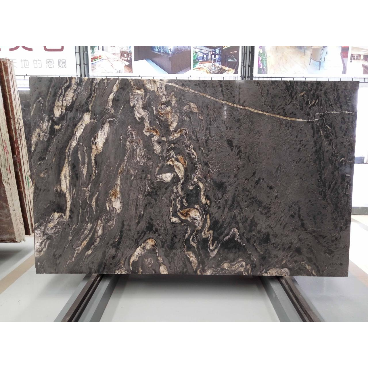 Stone Slabs Polished Matrix Titanium Granite Slab