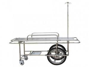 Quality Medical fumiture FC-3 stainless steel wheeled stretcher with two big and small wheels wholesale