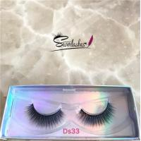 Cheap Ds33 Private Label Wholesale 3D 100% Mink Fur False Eyelashes Silk Lashes for sale