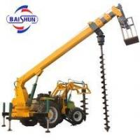 Buy cheap Hydraulic digging pole erection machine with crane from wholesalers