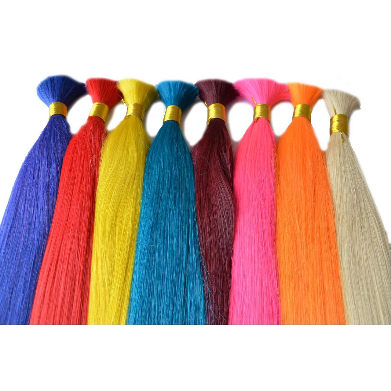 Buy cheap Hair Piece 100% Hair colorful Bulk 10-24