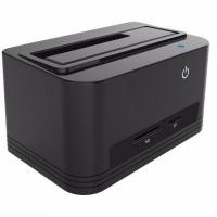 Buy cheap USB3.0 Single Bay HDD Docking Station with Card Reader&HUB from wholesalers