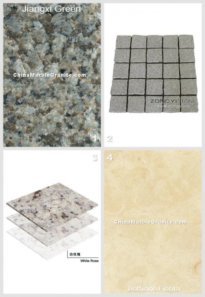 Quality Green Granite Jiangxi Green And China Exterior Application Net Paste Square Cube 005 wholesale