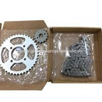 Cheap Motorcycle Chain Sprocket Kit for Suzuki GN125 for sale