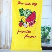 Buy cheap 100% Cotton Fiber Full Reactive Printed Velour Beach Towels from wholesalers