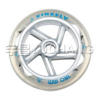 Scooter Wheels  150x30 Transparent PU Silver Cyclone Buckled Wheel 109-HR-90A