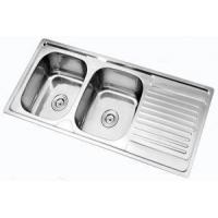 Cheap Stainless steel double bowl sink 120x50cm for sale