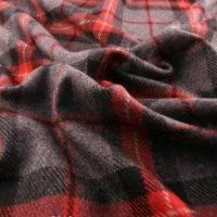 Alexander Henry Gray and Red Wool Coating