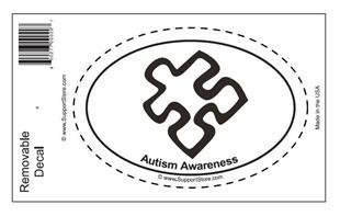 China Bumper Stickers Autism Awareness Oval Removable Decal