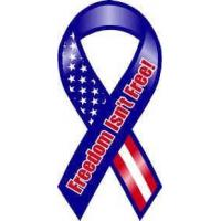 Buy cheap Bumper Stickers Freedom Isn't Free Ribbon Car Magnet from wholesalers