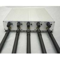 Buy cheap 5 Band Adjustable 3G 4G Cellphone Jammer with Remote Control from wholesalers