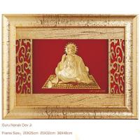 Buy cheap 3D gold foil gurunanak frame hot selling in dewali from wholesalers