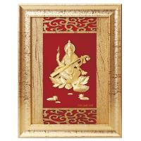 Buy cheap 3D gold foil saraswati frame hot selling in dewali from wholesalers