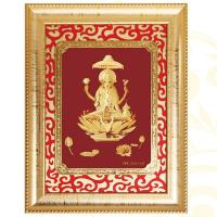 Buy cheap 3D gold foil ganesh with carving mount frame hot selling in dewali from wholesalers