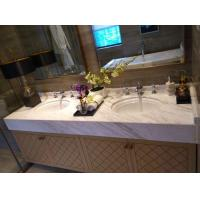 Buy cheap Volakas White Marble Bath Countertops Pros and Cons with 73 Inch Bathroom Vanity and Double Sinks from wholesalers