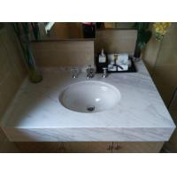 Buy cheap Volakas White Marble Bathroom Vanity Tops with 25 31 43 Inch Bathroom Vanity and Undermount Sink from wholesalers
