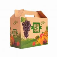 China ODM BC Flute Corrugated Cardboard Carton Vegetable Packing Paper Tray Box on sale