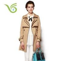 China Women Coats Never out of fashion european retro long trench coat for women on sale