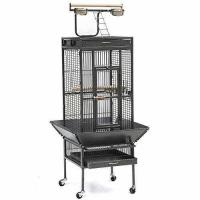 """Cheap Yaheetech Pet Bird Cage Play Top Parrot Cockatiel Cockatoo Parakeet Finches 61""""Black for sale"""