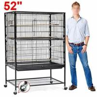 Cheap go2buy Large Play Top Bird Cage Parttot Finch Macaw Cockatoo Birdcages for sale