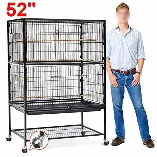 Quality go2buy Large Play Top Bird Cage Parttot Finch Macaw Cockatoo Birdcages wholesale
