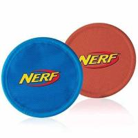 Cheap Nerf Dog Nylon Flying Disk Dog Toy, Large, 2-Pack, Blue and Red wholesale