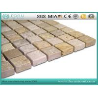 Cheap Beige Travertine Marble Mosaic for Flooring Tiles wholesale