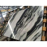 Cheap Luxury Italian Marble Slabs , Panda White Marble Slab With Gray Lines wholesale