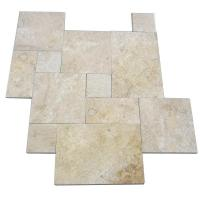 Honed Travertine Natural Slate Wall Tile , Rough Natural Stone Bathroom Tiles 12 X 6