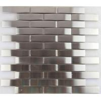 Cheap 3d Arch Stainless Steel Mosaic Tile Backsplash , Stainless Steel Kitchen Tiles 8mm Thick wholesale