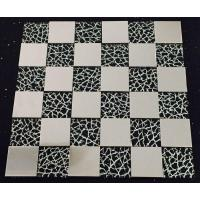 SS Square Metallic Mosaic Tiles Glass Sheets For Kitchen Countertop