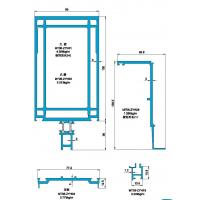 Cheap 145 Structural Drawing of Insulating Exposed Frame Curtain Wall wholesale