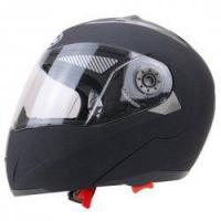 China Motorcycle Protective Open Face Helmet with Shield Double Lens Medium Size Matte Black on sale