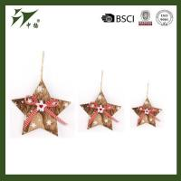 Wooden star shape Christmas kids doll hanging decoration, for gift