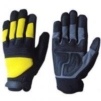 Cheap Anti Slip Synthetic Leather Mechanic Safety Gloves wholesale