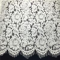 Buy cheap Ivory Fringe Scalloped Edge Eyelash French Soft Lace Fabric by the Yard from wholesalers