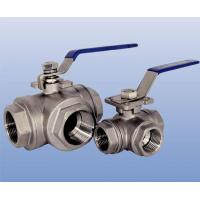 Buy cheap Handle operated three-way threaded end ball valve (L type, T type) from wholesalers