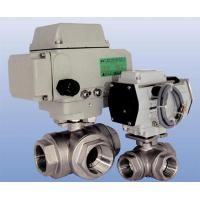 Buy cheap Electric operated three-way threaded end ball valve (L type, T type) from wholesalers