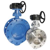 Buy cheap Double Eccentric butterfly valve, DI, Flange end. Hand operation from wholesalers