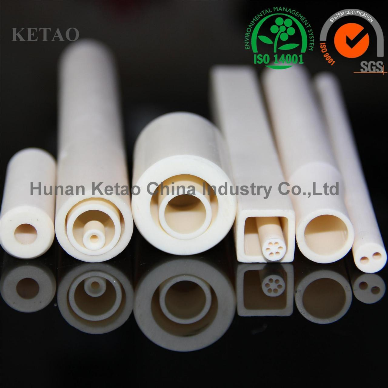 Buy cheap 95% 99% Al2O3 high alumina ceramic tube from wholesalers