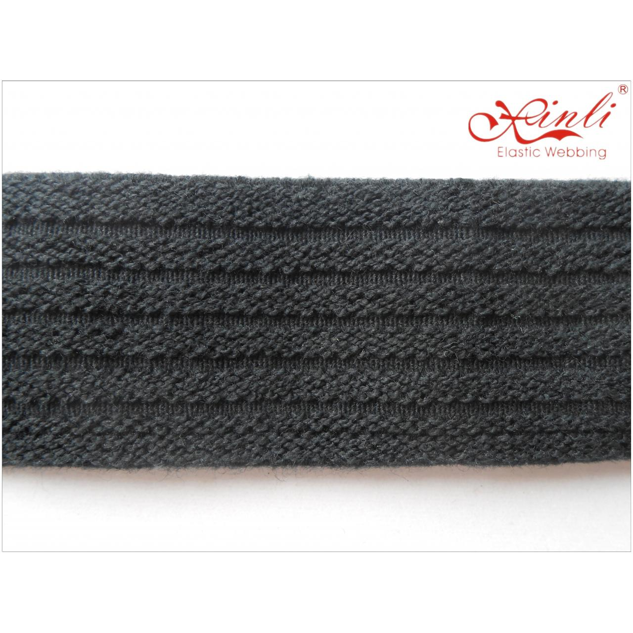 Buy cheap Ribbed band Black 3.7cm from wholesalers