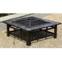 Outdoor Garden Large Square Metal Firepit With Tiles XY-FP-16040-L