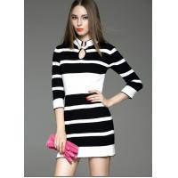 Cheap Autumn and winter womens new style dress collar seven points sleeve dress for sale