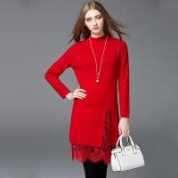 Cheap Autumn and winter new lace long, warm sweater dress for sale
