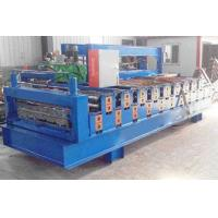Buy cheap CE Double Layer Roll Forming Machine , Trapezoidal Sheet Roll Forming Machine from wholesalers