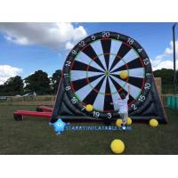 Cheap New type inflatable foot darts game inflatable soccer kick dart board with magic tape for sale