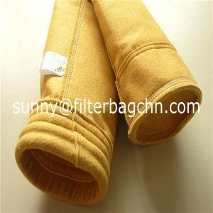 China High Tensile Strength P84 Filter Bags with PTFE Dipping Used in Dust Collector